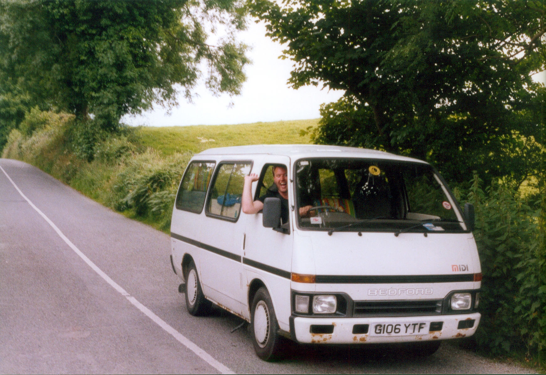 Rolling backwards up Gravity Hill on the Cooley Peninsula in County Louth, Ireland.