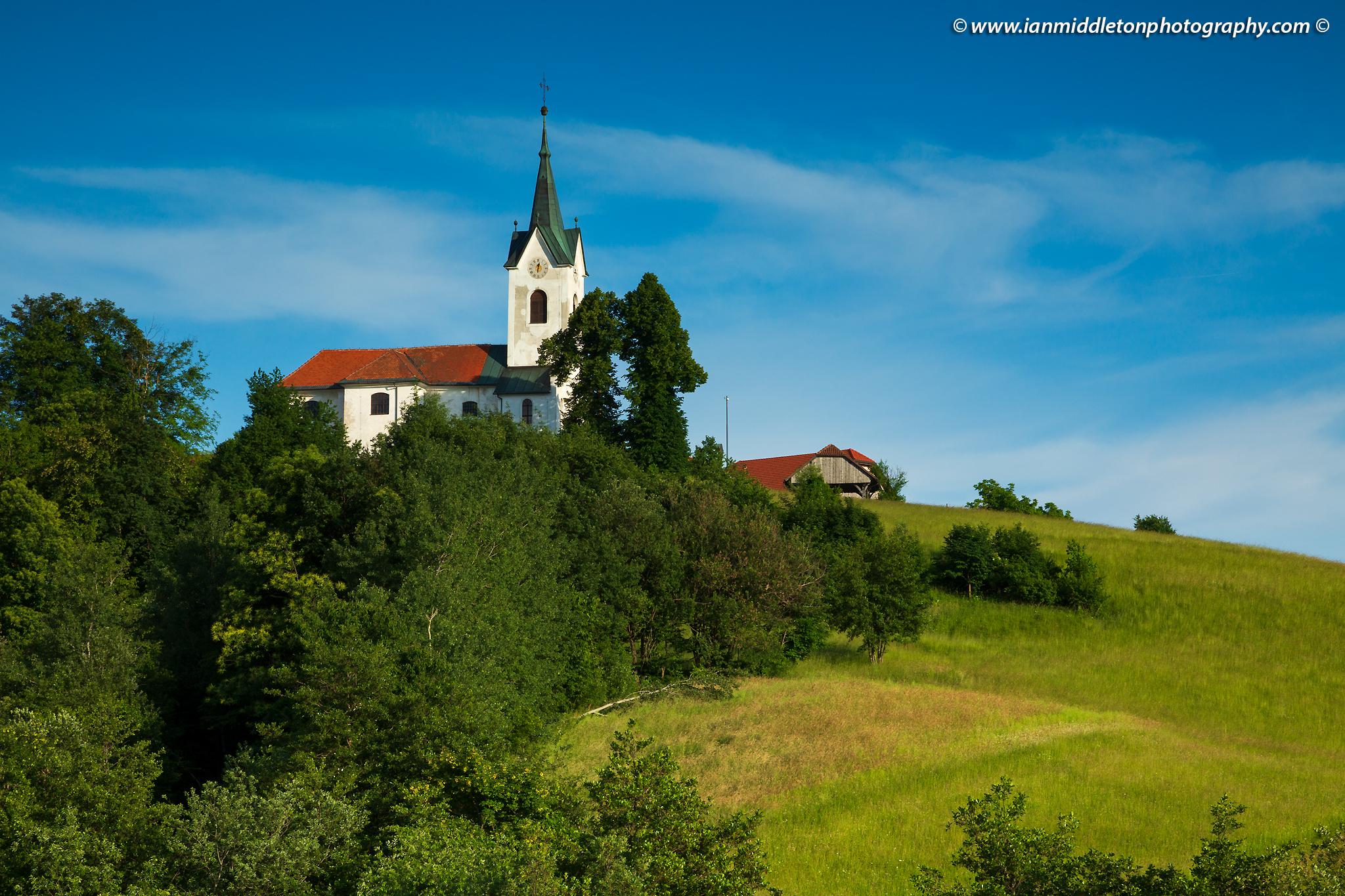 The church of Saint Marjeta in Prezganje in the Jance hills to the east of Ljubljana, Slovenia