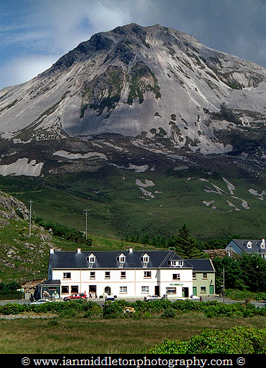 Mount Errigal in Dunlewey, County Donegal, Ireland.