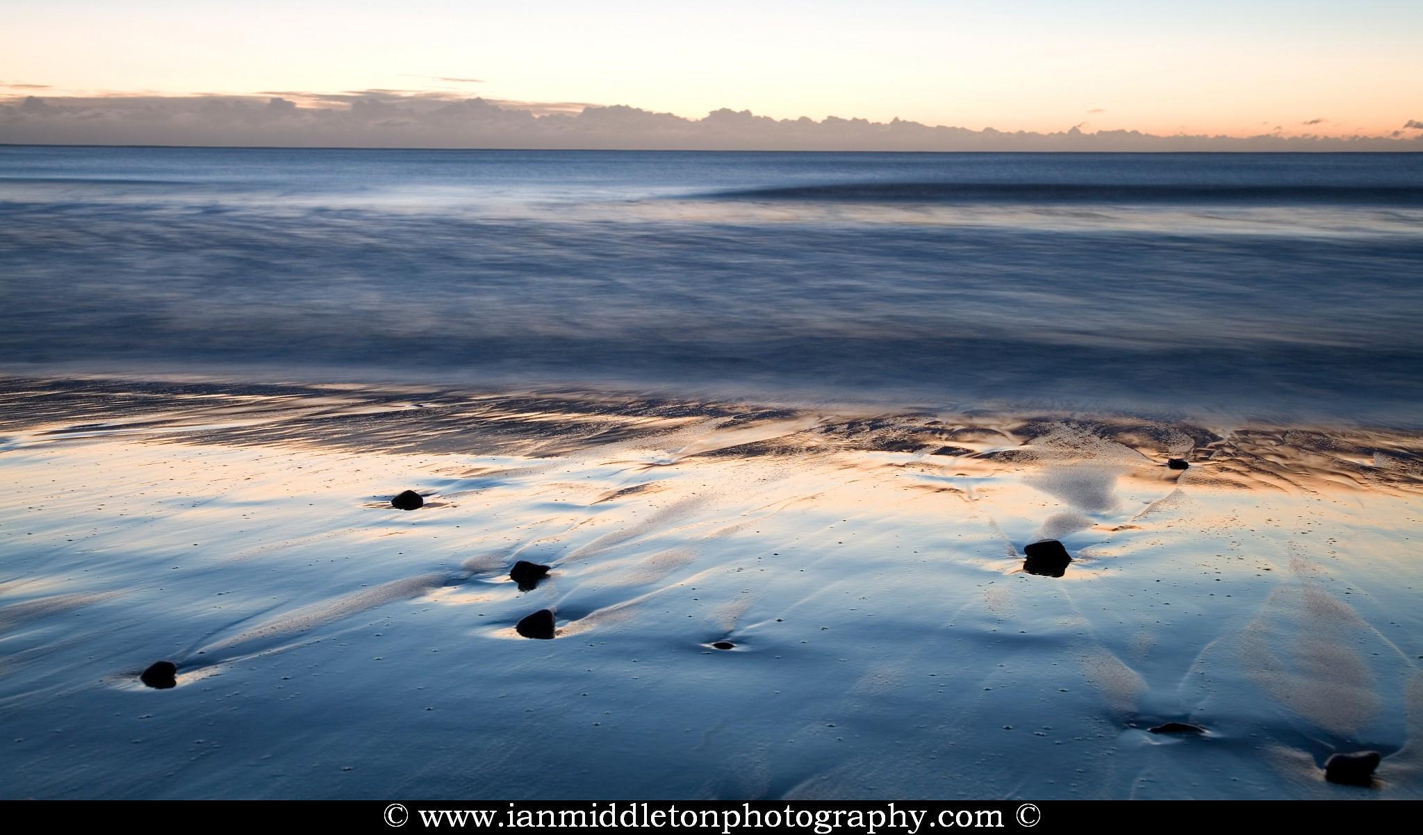 Ballynaclash beach at dawn, Blackwater, County Wexford, Ireland.
