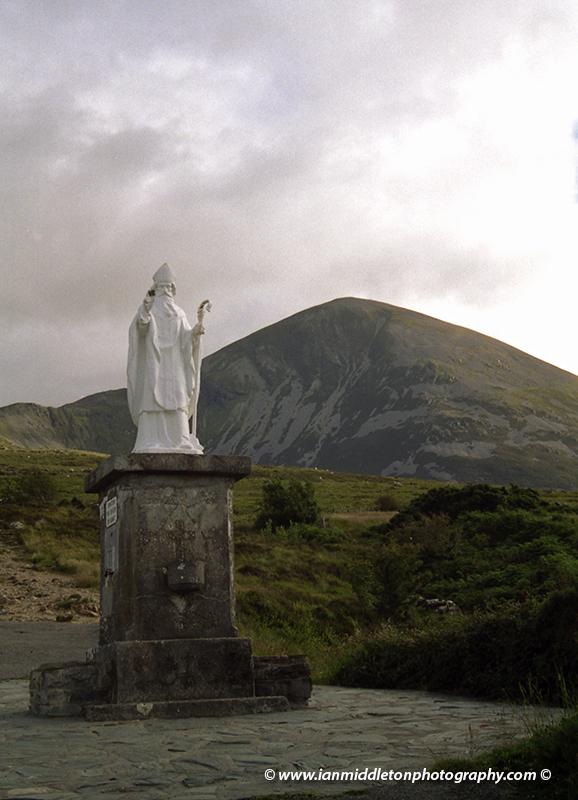 Saint Patrick statue at Croagh Patrick