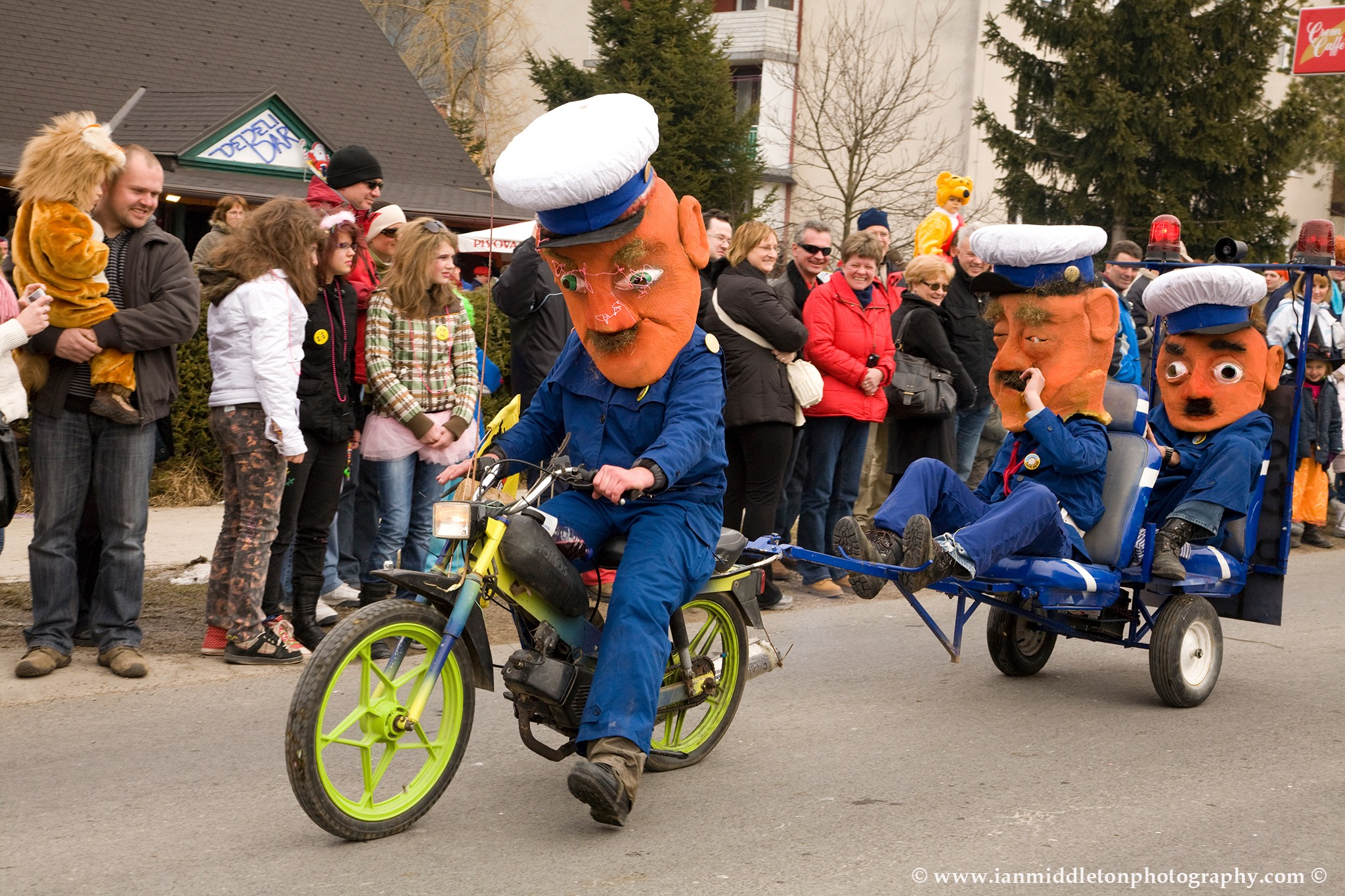 The annual Pust carnival in Cerknica, Slovenia 2009 ( A traditional celebration where people dress up to scare off the winter )