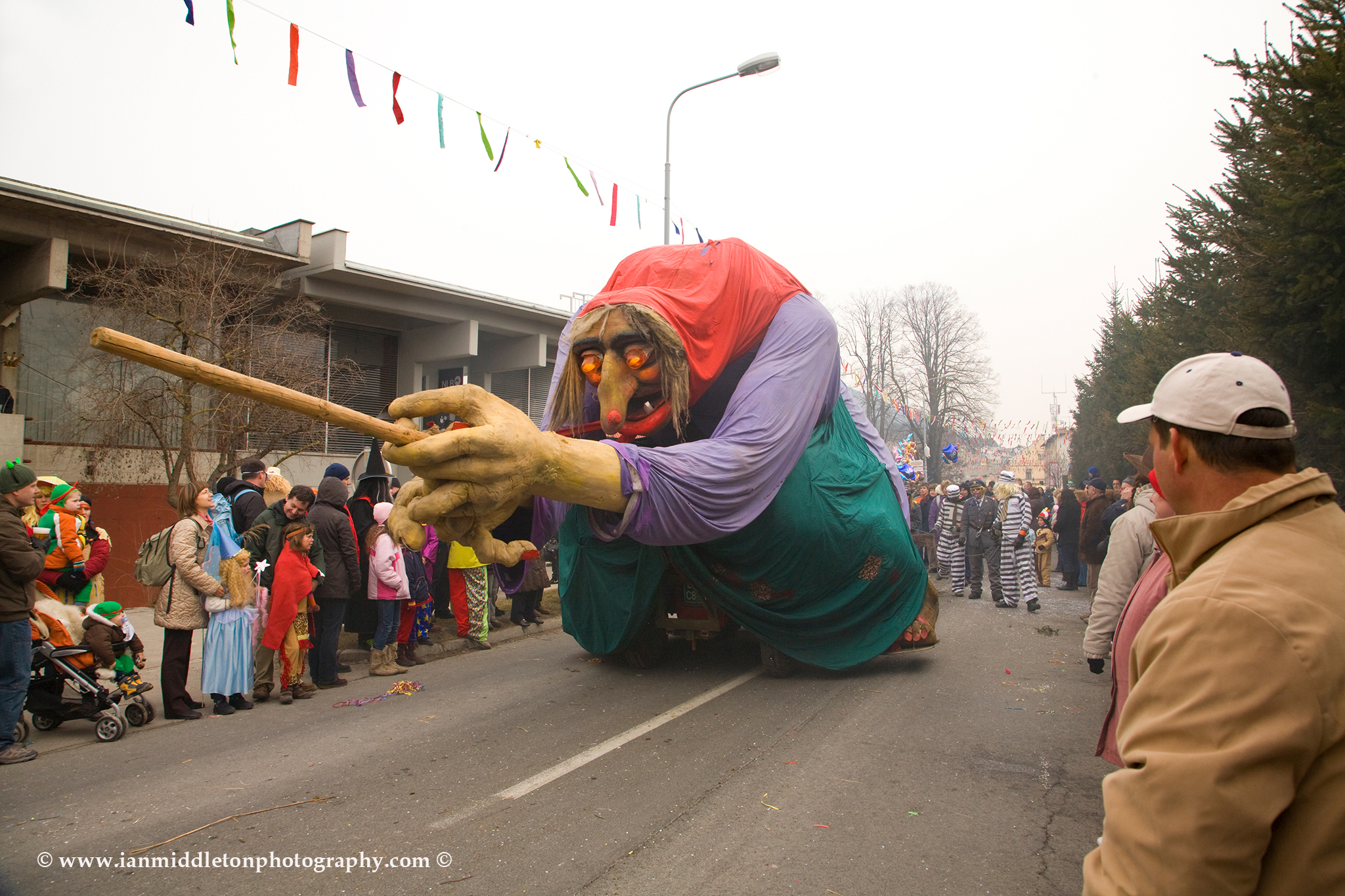 The witch of Slivnica Hill at the Pust carnival in Cerknica, Slovenia 2009.