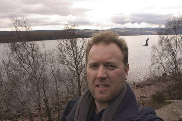 Ian Middleton at Loch Ness