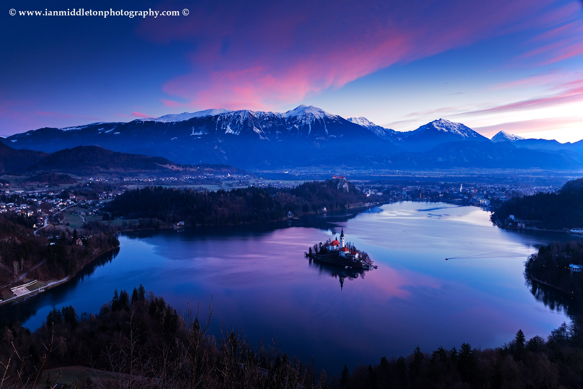Lake Bled view from Mala Osojnica.