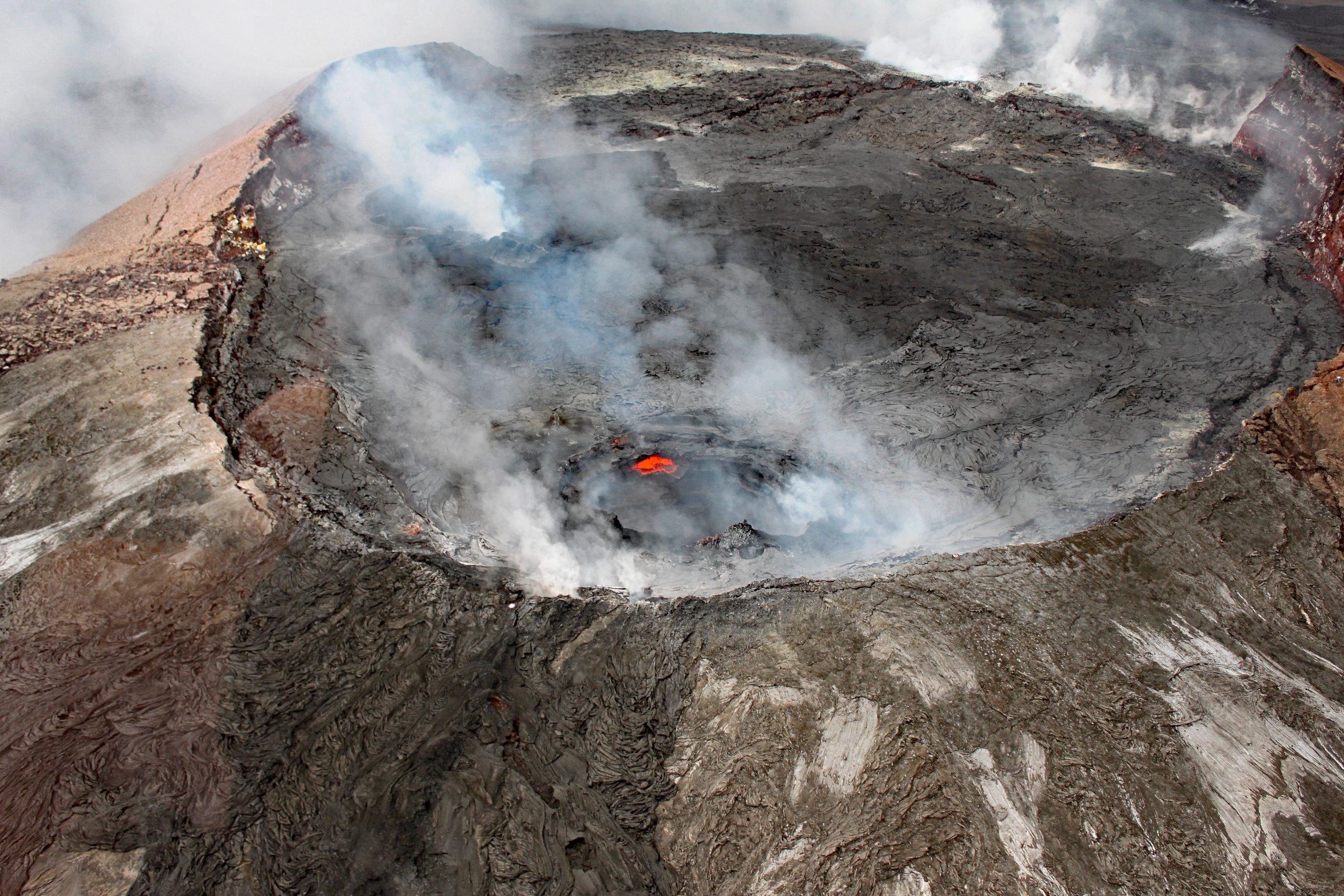 Kilauea volcano crater