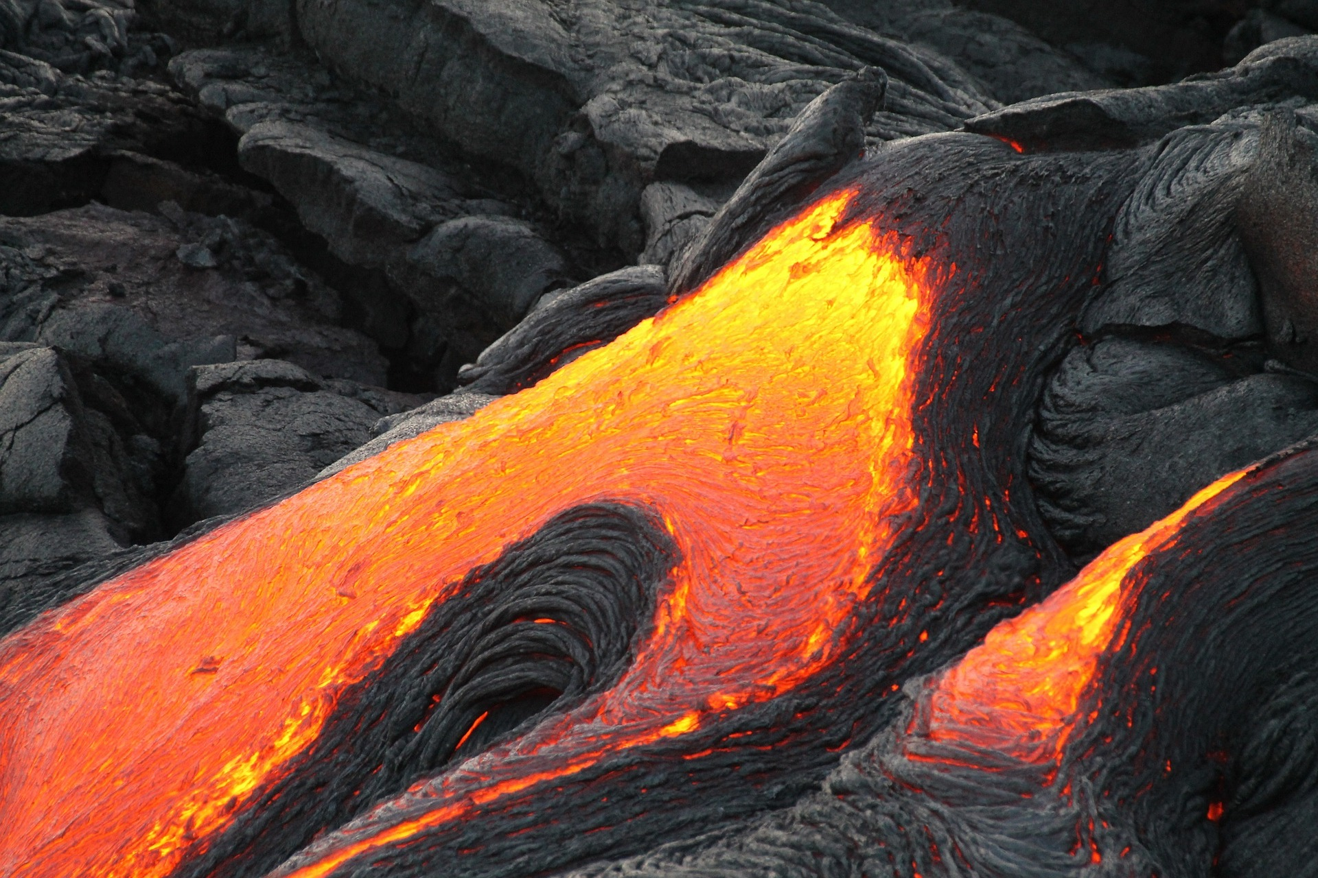 Volcano lava flowing - Image from Pixabay