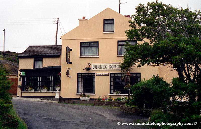 Bunbeg House at Bunbeg harbour, Northern Donegal, Ireland.
