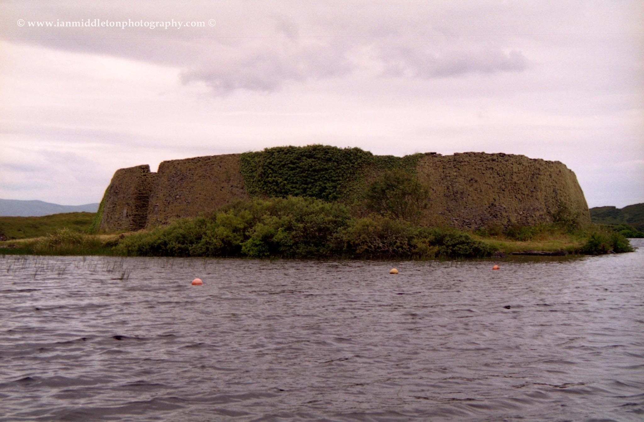 Doon fort on Loughdoon near Portnoo, County Donegal.