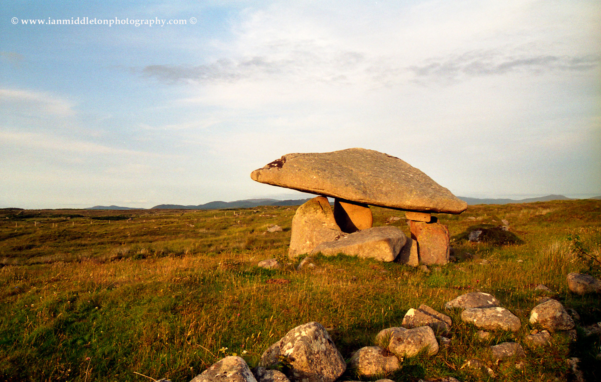 Kilclooney Dolmen in Southern Donegal.