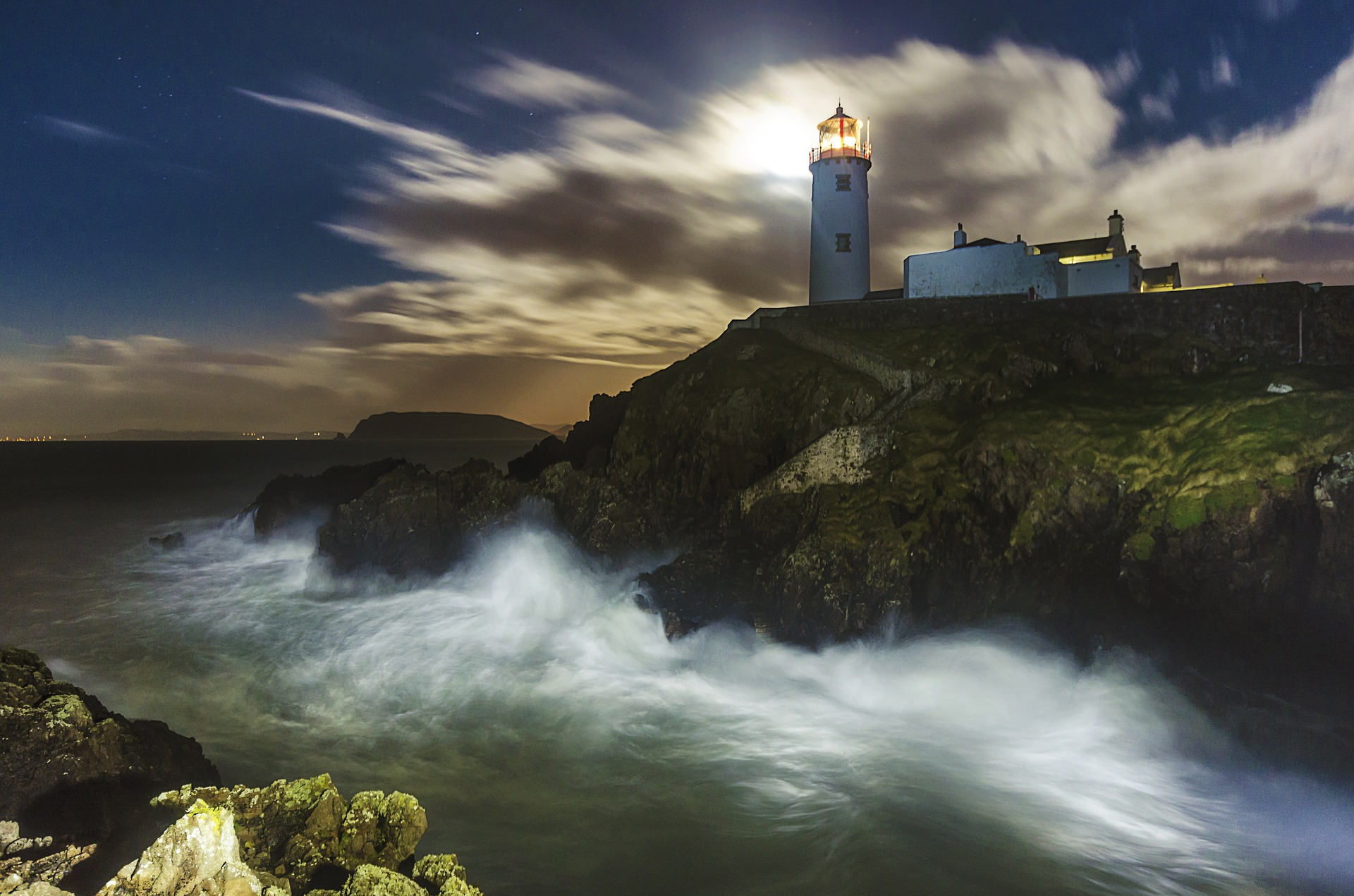 Fanad Lighthouse in Northern Donegal, Ireland.