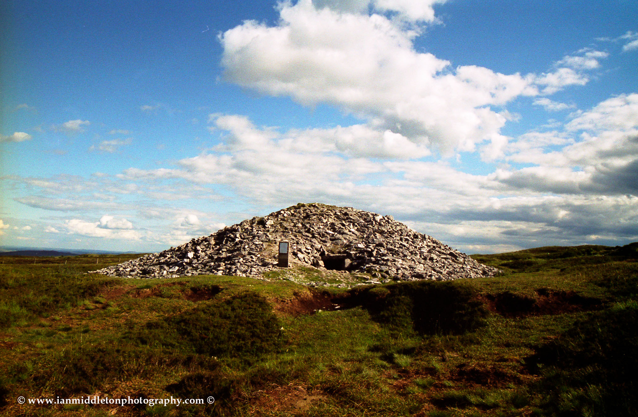 A megalithic burial cairn at Carrowkeel.