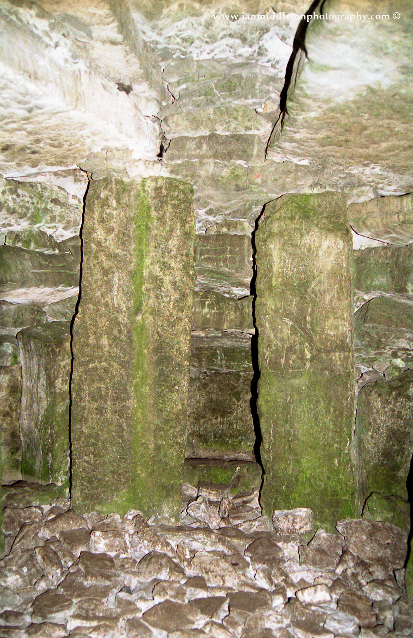 Inside a megalithic burial cairn at Carrowkeel.